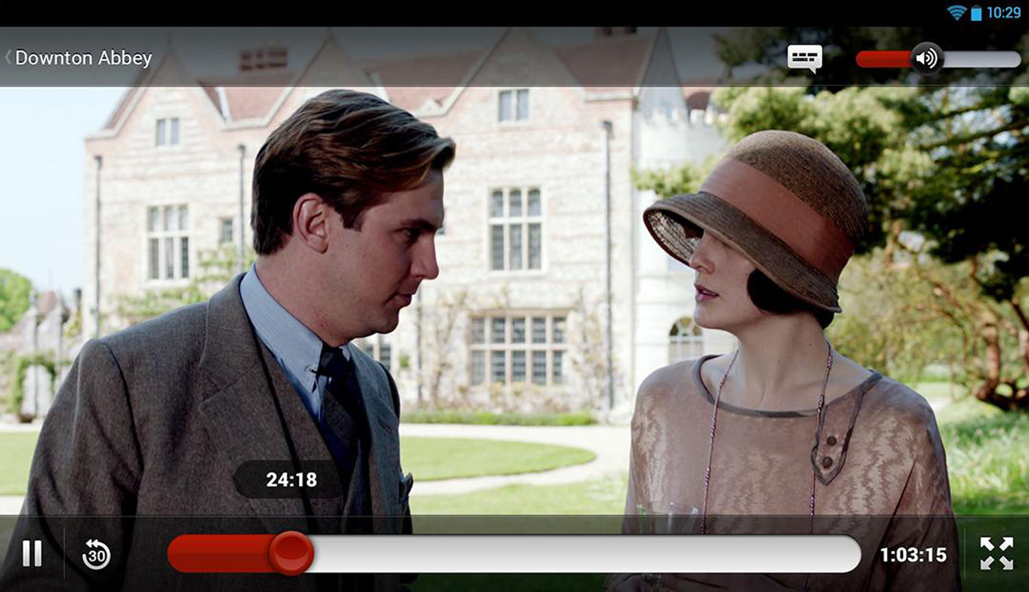 Netflix sur Android Downton Abbey