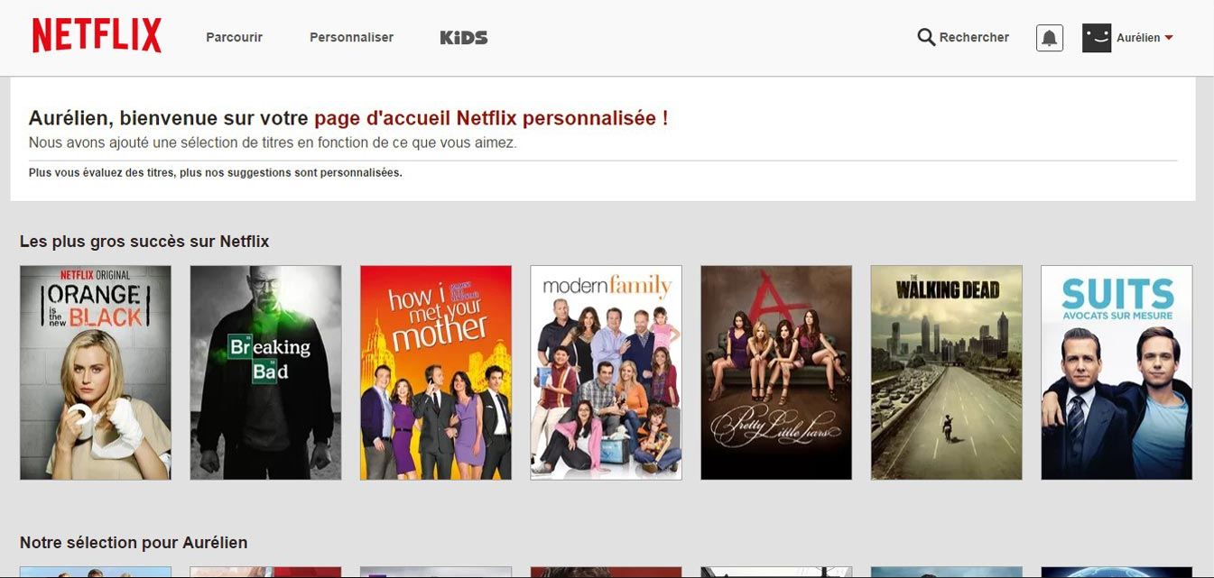 Inscription sur Netflix France accès au catalogue streaming