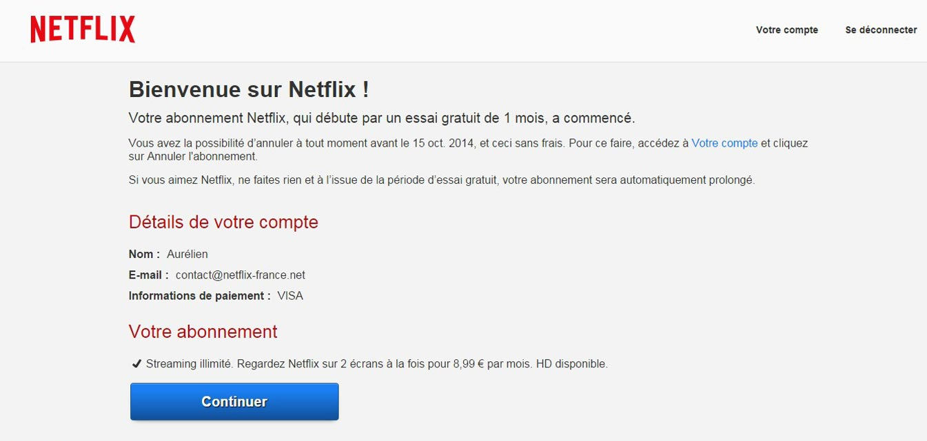 Inscription sur Netflix France
