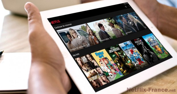 L'application Android Netflix sur tablette tactile