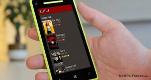 Netflix sur un smartphone Windows