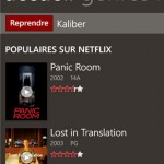 Netflix Windows phone catalogue